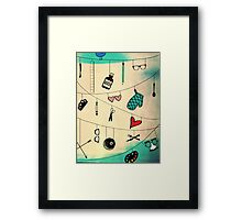 Crossing Wires Framed Print