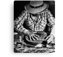 Cuban Cigar Maker Canvas Print