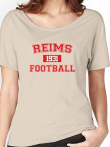 Reims Football Athletic College Style 1 Gray Women's Relaxed Fit T-Shirt