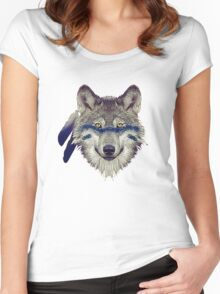 Wolf Women's Fitted Scoop T-Shirt