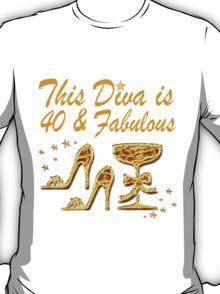 GLAMOROUS GOLD 40TH BIRTHDAY T-Shirt