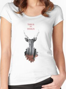 This is my design Women's Fitted Scoop T-Shirt