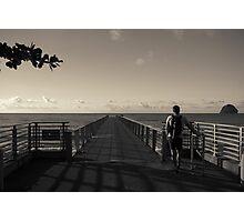 Man on Pier Photographic Print