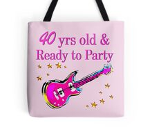 40 YR OLD ROCK STAR Tote Bag