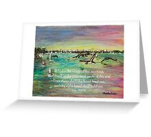 Pelicans Fly- Psalm 139 Greeting Card