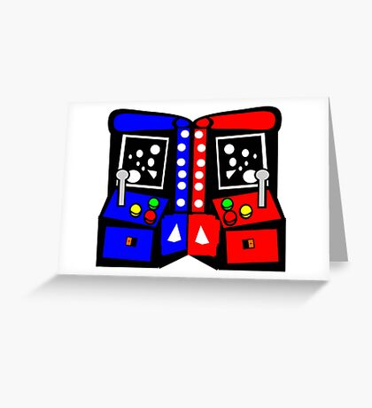 Arcade Game Retro Style  Greeting Card