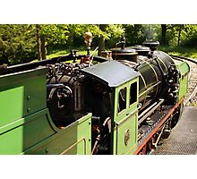 Side view of a historic steam engine Photographic Print