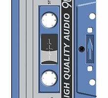 Vintage Cassette Tape Design by jgartshop