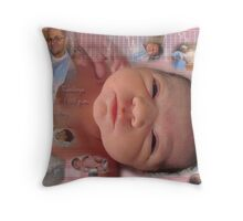 Birth Collages Throw Pillow