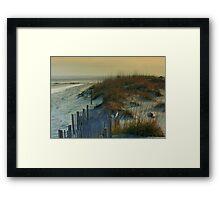 Sand Dunes of Tybee Island Framed Print