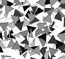 Modern Black, Grey, and White Geometric Triangles by Blkstrawberry