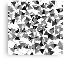 Modern Black, Grey, and White Geometric Triangles Canvas Print