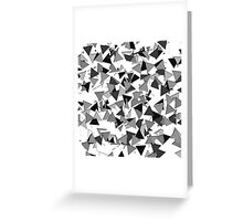 Modern Black, Grey, and White Geometric Triangles Greeting Card