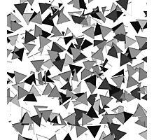 Modern Black, Grey, and White Geometric Triangles Photographic Print