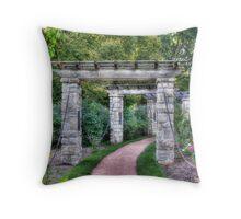 Rose Garden Path Throw Pillow