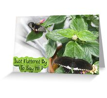 Just Fluttered By to Say Hi Greeting Card