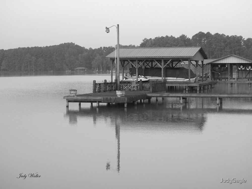 The Docks on Lake Weiss by Judy Gayle Waller