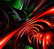 Angry Clown Abstract by Alexander Butler