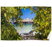 Postcard from Bora-Bora, French Polynesia Poster