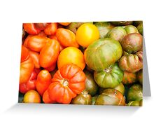 Assorted Heirloom Tomatoes Greeting Card