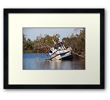 Too old to float Framed Print