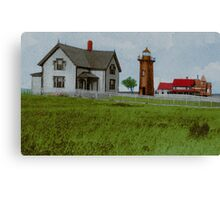 East Chop Light Early 1900s Canvas Print