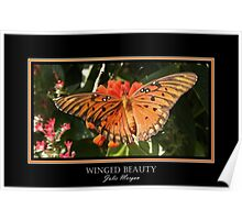 Winged Beauty Poster
