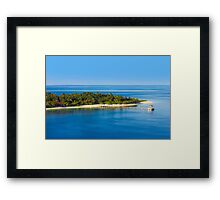 Jetty in the Maldives Atoll Framed Print