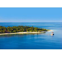 Jetty in the Maldives Atoll Photographic Print
