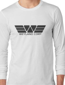 Weyland Corp logo - Alien - Grey Long Sleeve T-Shirt