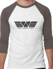 Weyland Corp logo - Alien - Grey Men's Baseball ¾ T-Shirt