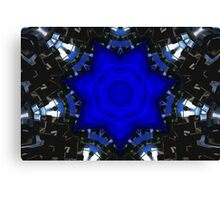 Metallic Blue Canvas Print