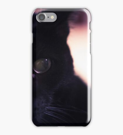 Neo the Black Cat - Portrait - 1 iPhone Case/Skin