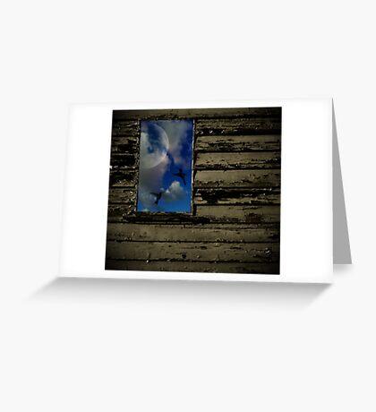 Through the glass darkly Greeting Card