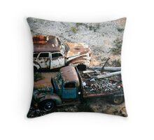 Rusty Trucks Throw Pillow
