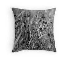 moorland grasses Throw Pillow