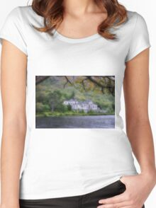 Kylemore Abbey, Galway Ireland Women's Fitted Scoop T-Shirt