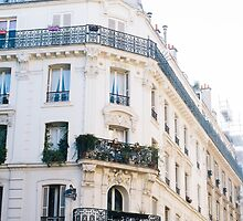Corner Building In Paris by PatiDesigns