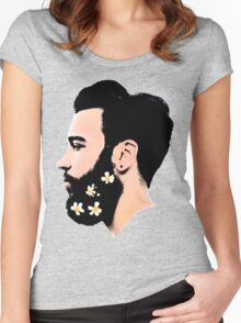 FLOWER BEARD Women's Fitted Scoop T-Shirt