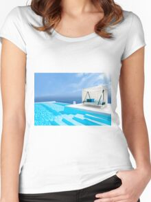 Santorini, Greece Women's Fitted Scoop T-Shirt