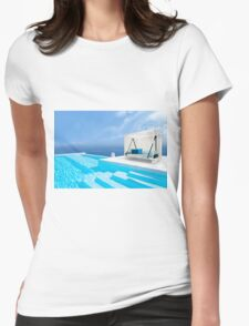 Santorini, Greece Womens Fitted T-Shirt