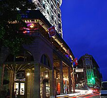 Downtown Eureka Springs Night by Chip  Ford
