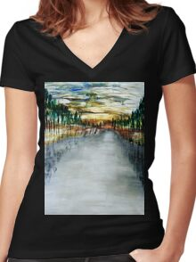 Frozen River Women's Fitted V-Neck T-Shirt