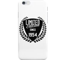 LIMITED EDITION SINCE 1954 iPhone Case/Skin