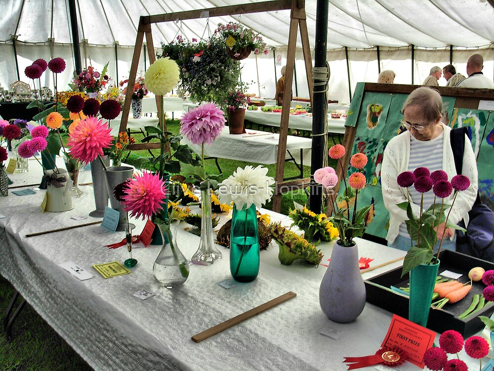 Admiring the prize winning flowers and vegetables at the Hawkesbury Upton Horticultural Show. by Clive Lewis-Hopkins.