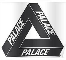 Black Palace Skateboards Tri Ferg Logo Poster