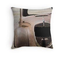 The haunting car Throw Pillow