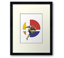 I Main Captain Falcon Framed Print