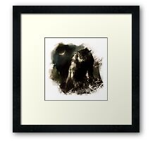 Crescent Moon Werewolf Framed Print