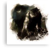 Crescent Moon Werewolf Canvas Print